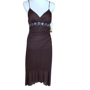NWT My Michelle Brown Party Dress